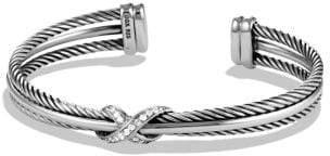 David Yurman Crossover X Bracelet With Diamonds, 7Mm