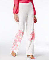 INC International Concepts Petite Floral-Print Wide-Leg Pants, Only at Macy's