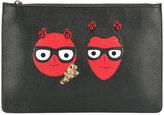 Dolce & Gabbana designer's patch clutch bag