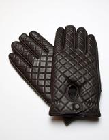 RUMI Dark Coffee Brown Leather Gloves