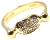 Tiffany & Co. Elsa Peretti 18K Yellow Gold Diamond Bean Ring