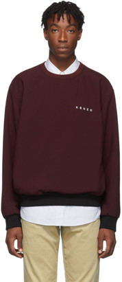 Kenzo Burgundy Woven Cady Sweatshirt
