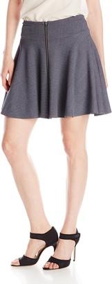 Only Hearts Women's Double Knit Zip Mini Skirt