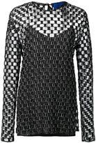 Sharon Wauchob checked transparent blouse
