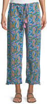 Figue Goa Bahia Beach Paisley-Print Straight-Leg Crop Pants