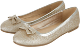 Accessorize Bow Glitter Ballerina Flat Shoes