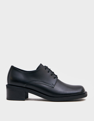 Amomento Women's Derby Shoes in Black, Size 6 | Leather/Rubber