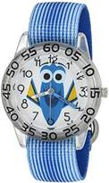 Disney Girl's 'Finding Dory' Quartz Plastic and Nylon Watch, Color:Blue (Model: W003019)