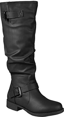 Journee Collection Stormy Boot - Extra Wide Calf (Black) Women's Shoes