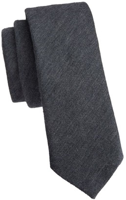Saks Fifth Avenue COLLECTION Solid Silk Skinny Tie