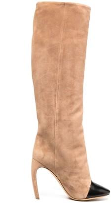 Lanvin J sculpted heel boots