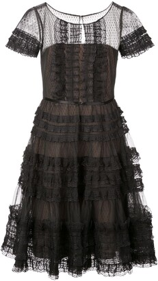 Marchesa A-line dress