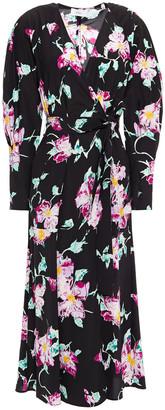 A.L.C. Floral-print Silk Crepe De Chine Midi Wrap Dress
