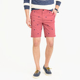 """J.Crew 9"""" Stretch Short With Embroidered Anchors"""