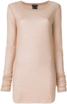 Ann Demeulemeester fitted knitted top