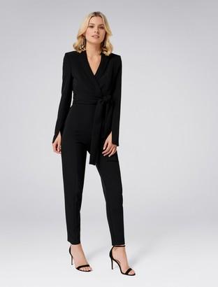 Forever New Dianne Tuxedo Jumpsuit - Black - 12