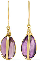Pippa Small 18-karat Gold Amethyst Earrings - one size
