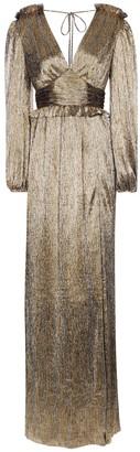 Rebecca Vallance Rivero metallic maxi dress