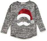 Copper Key Little Girls 2T-6X Christmas Santa Knit Top