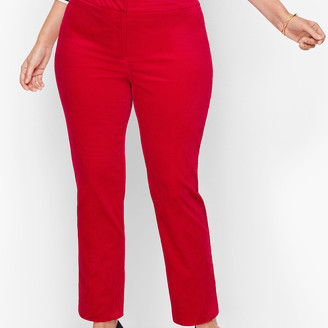 Talbots Plus Size Chatham Ankle Pants - Velveteen