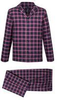 HUGO BOSS Pyjama Cotton Flannel Pajama Set LRed