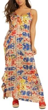 GUESS Arianne Ruffled Maxi Dress