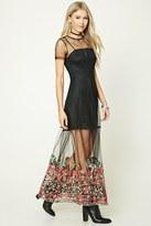 Forever 21 FOREVER 21+ Semi-Sheer Floral Maxi Dress