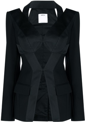 Area Cut-Out Detail Tailored Blazer