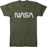 Trunk Candy Men's Vintage NASA Worm Logo Distressed Premium Tri-Blend T-Shirt