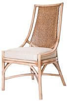 David Francis Furniture Alana Rattan Side Chair - Beige