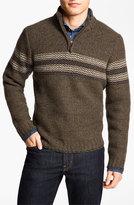 Hickey Freeman Men's Quarter Zip Lambswool Sweater
