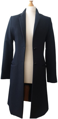Aquascutum London Navy Wool Coats