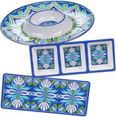 Certified International Morocco 3Pc Chip & Dip/Relish/ Rectangular Platter