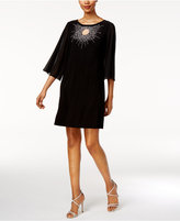MSK Petite Embellished Keyhole Starburst Dress