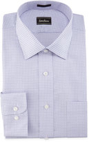 Neiman Marcus Plaid Classic-Fit Dress Shirt, Purple