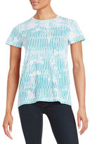 Lord & Taylor Patterned Cotton Tee