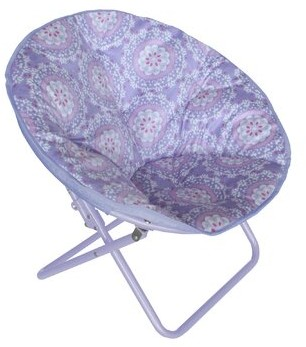 Harriet Bee Phillip Saucer Kids Chair Upholstery: Purple Medallion