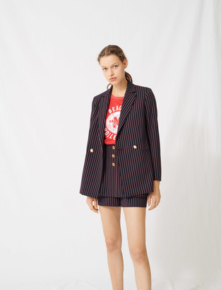 Maje Striped double-breasted jacket