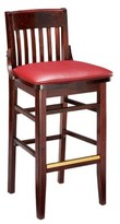 "Regal Beechwood School House Upholstered Seat Bar & Counter Stool Seat Height: Counter Stool (26"" Seat Height)"