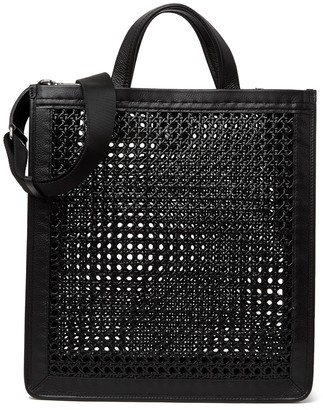 Coccinelle Open Weave & Leather Tote Bag