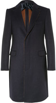 Alexander Mcqueen - Slim-fit Raw-edged Double-faced Wool And Silk-blend Coat