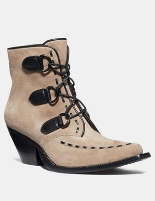 Coach Lace Up Chain Bootie