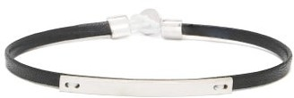 Miansai Nexus Leather & Sterling-silver Bracelet - Black
