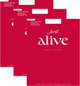 Hanes Womens Set of 3 Alive Full Support Control Top RT Pantyhose,arely There