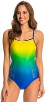 Speedo Color Fusion Thin Strap One Piece Swimsuit 8136677