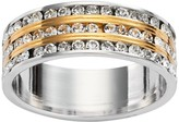 Swarovski Traditions 18k Gold Plate & Silver Plate Crystal Multirow Ring