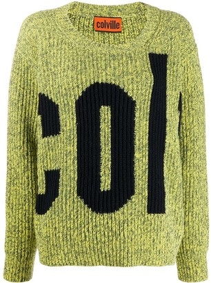 Colville Logo Ribbed Knit Jumper