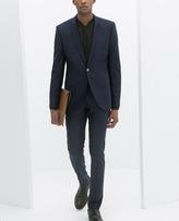 Zara Bright Blue Fashion Suit