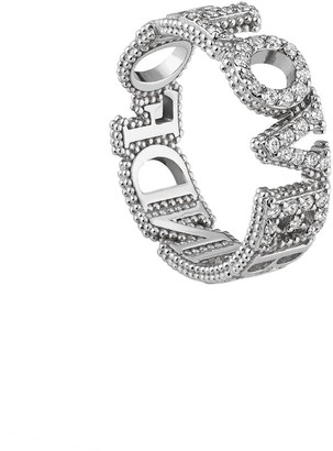 Gucci 18kt white gold Blind for Love diamond band