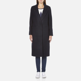 Maison Scotch Women's Longer Length Tailored Coat Navy